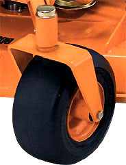 6-inch wide caster wheels